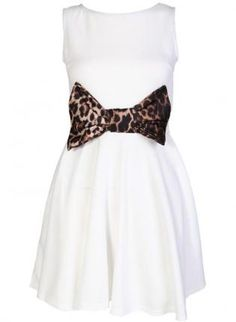 White Cocktail Dress - White Fit and Flare Dress