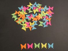 Neon Butterfly Confetti/Scrapbook Cut OutsSet by coolcraftsandmore, $3.50
