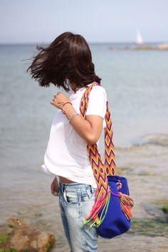 Wayuu Mochila bag - love these colors