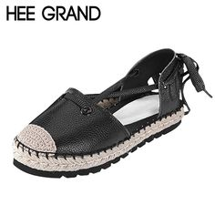 Women Ankle Strap Sandals Hemp Breathable Casual Summer Simple Shoes Woman High Quality PU Leather Flat Platform Sandals XWZ2760
