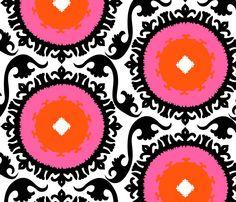 suzani - pink flowers - tukkki