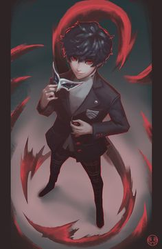 The Phantom. by kaerru on DeviantArt Persona 5 Ann, Persona Five, Persona 5 Joker, 5 Anime, Kawaii Anime, Anime Art, Shiro, Shin Megami Tensei Persona, Akira Kurusu
