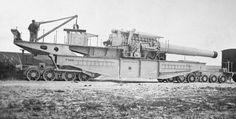 French 400 mm railway howitzer, World War I era.