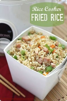 "Rice Cooker Fried Rice | The Recipe Critic. I was very skeptical about throwing all of these ingredients into the rice cooker and having it even come close to fried rice, but thankfully I was wrong. I may never make ""fried"" rice any other way. Amazing and easy!"