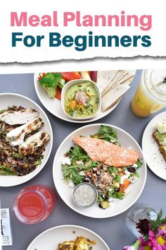"How to meal plan for beginners: Meal planning is a great way to save money on food and time in the kitchen. Not to mention stress from the daily ""what's for dinner"" dilemma. In this guide, you learn the step by step process to put together a weekly or monthly menu and some tips and ideas to get started whether you are planning for two or a large family. Plus there are also some free template printables included to get you started meal planning on a budget. #mealplan #dinnerideas #mealprep Healthy Meals For Two, Easy Meals, Healthy Recipes, Healthy Fats, Budget Meal Planning, Money Saving Meals, Nutrition Articles, Dog Recipes, Food Waste"