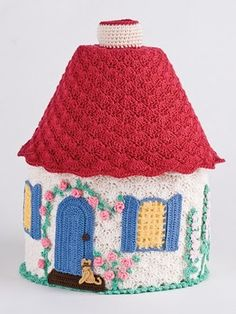 Crochet Cottage - so many applications - door stop, tea cosie, beanie.....