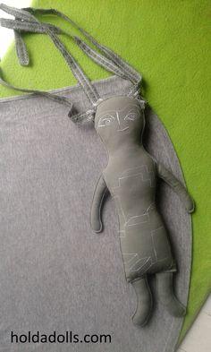 Architect Doll - handmade, fabric, ooak doll by Holda Dolls