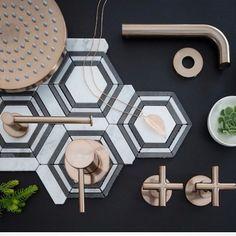 LOVING the new colour range @meiraustralia ✨#meir #tapware #newcolours #tigerbronze #champagne #chrome #meiraustralia #bathroom #design #interiorproducts #embracingspace #interiordesign #tapwaredesign #instagood #love #cantwaittospecify #bathroomdesign #kitchendesign #interiorstyling