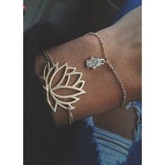 lotus bracelet...good alternative to getting this as a wrist tattoo...