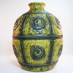 West german mid century ceramic vase by Jasba in mint condition