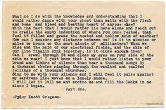 Typewriter Series #706byTyler Knott Gregson