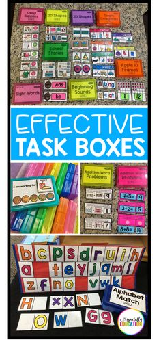 FAQ: Task Boxes Setting up an effective independent work station is a game changer in the special education classroom! Task Boxes Setting up an effective independent work station is a game changer in the special education classroom! Life Skills Classroom, Autism Classroom, Special Education Classroom, Elementary Education, Classroom Ideas, Special Education Activities, Future Classroom, Texas Education, Art Education