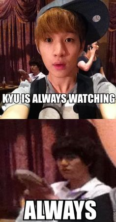 The evil maknae is ALWAYS watching.............