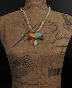 ADELAQUEEN New Fashion Resin Log Jewelry with Colorful Lovely Flower Necklace