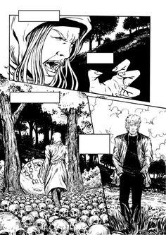 Tavola di Antonio Russo Tantaro per la creazione di un fumetto in cooperazione con 8 diversi artisti. Comic Art. #progettodaunalapide