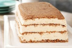 A no-bake cheesecake mix makes this elegant frozen dessert easy.  Instant coffee in the crumb crust and filling adds delicious cappuccino flavor.