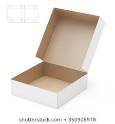 Square Crate Box with Die Cut Template Diy Gift Box, Diy Box, Paper Box Template, Packing Boxes, Party In A Box, Diy Arts And Crafts, Box Packaging, Box Design, Diy Paper