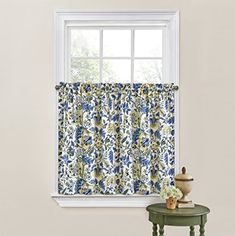 WAVERLY Kitchen Curtains for Windows - Imperial Dress x Small Window Panel Tiers Privacy Window Treatment Pair Bathroom, Living Room, Porcelain Rod Pocket Curtains, Sheer Curtains, Window Curtains, Window Privacy, Window Panels, Discount Bedroom Furniture, Vintage Curtains, Small Windows, Kitchen Curtains