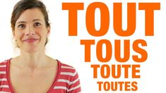 Tout Tous Toutes Toute - Règle et exemples How To Speak French, Learn French, French Adjectives, French Class, French Language, Grammar, Audio, Flipped Classroom, Speak French