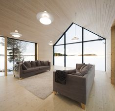 Simple living area with lots of natural light in Finland (i.it) submitted by to /r/RoomPorn 0 comments original - Architecture and Home Decor - Buildings - Bedrooms - Bathrooms - Kitchen And Living Room Interior Design Decorating Ideas - Small House Decorating, Small House Design, Decorating Ideas, Bungalows, Interior Exterior, Interior Architecture, Decor Interior Design, Interior Design Living Room, Room Interior