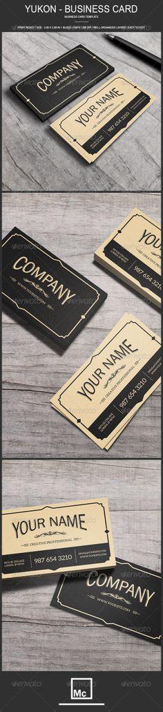 Yukon - Vintage Business Card - Retro/Vintage Business Cards