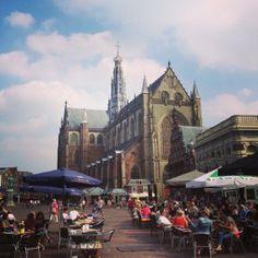 De Bavokerk op de Grote Markt, the place to be! #haarlem #grotemarkt #bavo