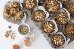 Nita's Breakfast Muffin recipe: a healthy spin on a Morning Glory muffin that's perfect for a tasty grown-up breakfast. Packed with whole wheat, fruit, veggies, and nuts!