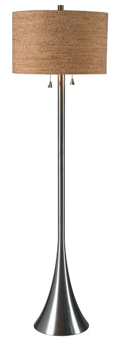 Bulletin Floor Lamp shown in Brushed Steel Finish by Kenroy Home - KNRY-32093BS
