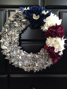 Custom ACU Army wreath with name tape and by FacciaBellaCouture, $45.00