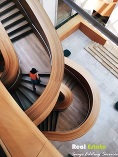 From the usual interior design to the more interesting set design; here are some of the most exciting careers in interior design and architecture. Wooden Staircase Design, Wooden Staircases, Modern Staircase, Stairways, Marble Staircase, Study Architecture, Architecture Details, Interior Architecture, Architecture Portfolio