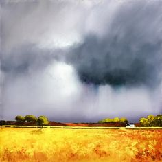 Artist: Barry Hilton Title: Autumn Shower Medium: Giclee on Canvas Edition Copies: 95 Image Size: 24 x 24 Finish: Print Only or Framed Watercolor Sky, Watercolor Landscape Paintings, Sky Painting, Landscape Art, Painting Inspiration, Fine Art, Abstract Art, High Wycombe, Clouds