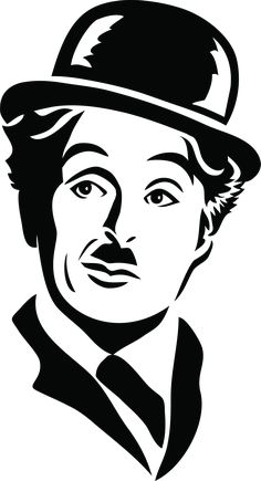 This high quality free PNG image without any background is about charlie chaplin, charlie, chaplin, comic actor, filmmaker and silent film. Portrait Sketches, Art Drawings Sketches Simple, Pencil Art Drawings, Easy Drawings, Cartoon Drawings, Face Stencils, Stencil Art, Joker Stencil, Stencil Printing