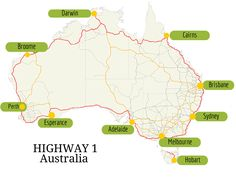 It will take weeks to drive around Australia. This doesn't include the best places to visit in Australia. months is just enough time to do the trip. Perth, Brisbane, Melbourne, Sydney, Motorcycle Camping, Camping Gear, Backpacking, Cairns, Facts About Australia