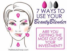 7 ways to use your Beauty Blender sponge #beautyblender #makeup: