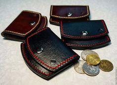 Купить Монетница - коричневый, монетница, монетница из кожи, натуральная кожа, подарок, изделия ручной работы