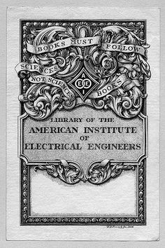 [Bookplate of the American Institute of Electrical Engineers] by Pratt Institute Library