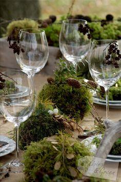 Moss! - Tischdekoration mit Moos DIY