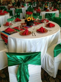 Mexican themed party table and centerpiece