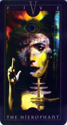 The Hierophant- Vertigo Tarot Deck by Dave McKean