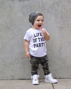 Always the life of the party. , Lenox James Tee (Discoun – Baby Outfits) – S … -… Immer das Leben der Party. , Lenox James Tee (Discoun – Baby-Outfits) – S … – Schwanger Kleidung – - Cute Adorable Baby Outfits Baby Boy Swag, Cute Baby Boy Outfits, Boys Summer Outfits, Little Boy Outfits, Summer Boy, Toddler Boy Outfits, Cute Baby Clothes, Baby Boys, Toddler Boy Fashion