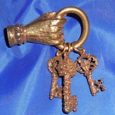 Hand Pin Brooch with Keys signed Jeanne $38.00