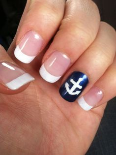 Anchors are love ⚓️ my boyfriend is in the US Navy and loved my nails with the elegance of French tips