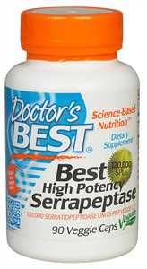 120,000 SPU/90 veggie caps Best High Potency Serrapeptase