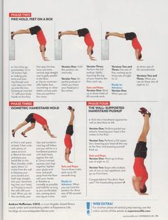 Handstand Pushup Progression Plan  My goal is to do HSPUs without abmats