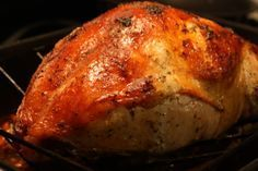 herb roasted turkey breast and gravy