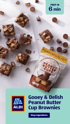 Peanut Butter Cup Brownies, Peanut Butter Cups, Basic Donut Recipe, Brownie Shop, Delicious Desserts, Dessert Recipes, Booboo Stewart, 3 Ingredient Recipes, Blondie Brownies