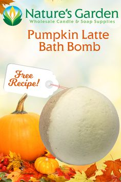 Free Pumpkin Latte Bath Bomb Recipe by Natures Garden.