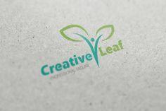 Creative Leaf Logo by fastudiomedia on @creativemarket