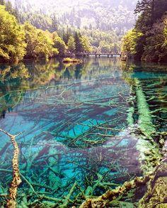 Parque Nacional Jiuzhaigou,ubicado en Sichuan, China