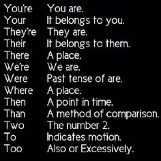 For those that don't know proper grammar and mix these up, you're welcome. Regram from @jimmiemcguire